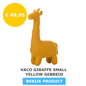Vaco Giraffe Small Yellow Gebreid