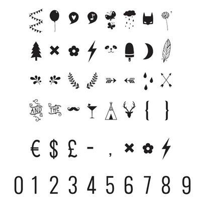 Little Lovely Lightbox Symbol Set Numbers Symbols De Kinderplaneet